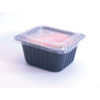 Container Series P2 in CPET + Lid in APET Compac