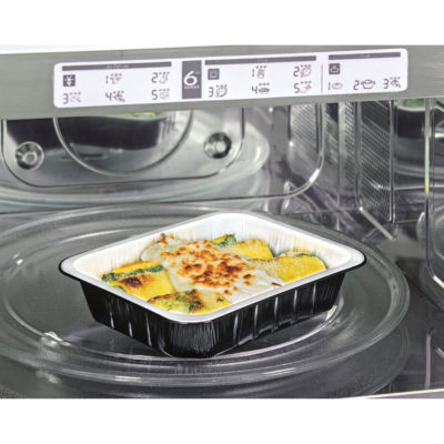 Container in aluminium smooth wall ALbn Compac in microwave oven