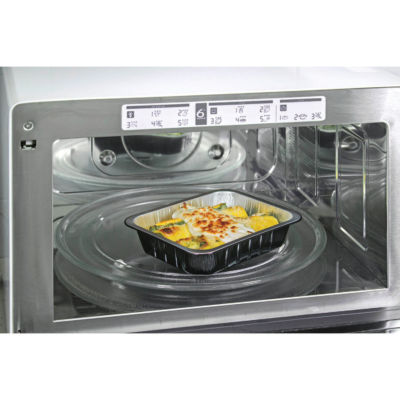 Container in aluminium smooth wall ALc Compac in microwave oven