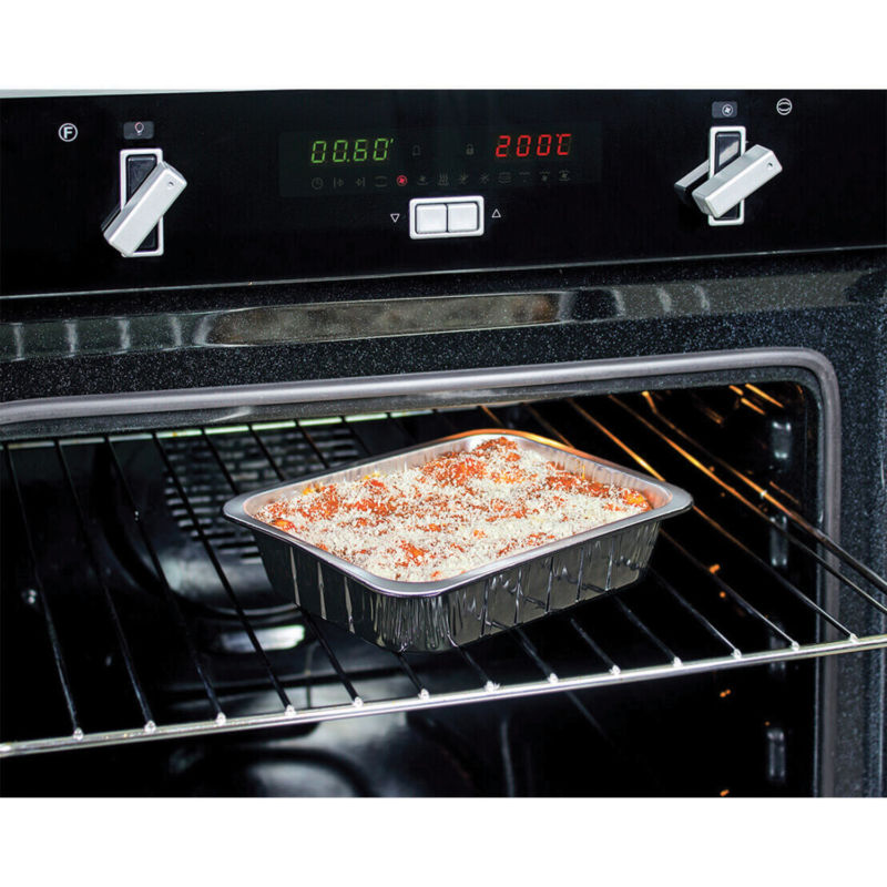 Container in aluminium smooth wall ALc Compac in traditional oven