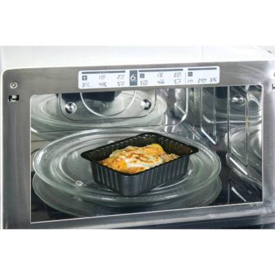 Contenitore Compac in CPET nero in forno microonde