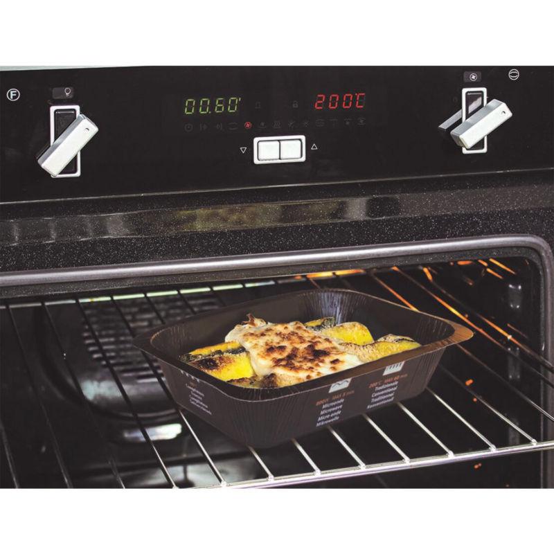 Contenitore Compac in CARTONCINO+PET (CA+PET) nero in forno tradizionale