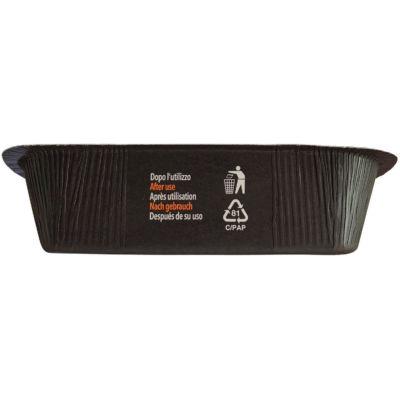 Contenitore Compac in CARTONCINO+PET (CA+PET) nero riciclabile, istruzioni smaltimento