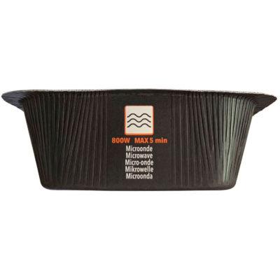 Contenitore Compac in CARTONCINO+PET (CA+PET) nero, riciclabile, utilizzo in forno microonde