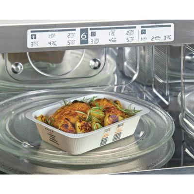 Contenitore in CARTONCINO+PLA (CA+PLA) Compac in forno microonde