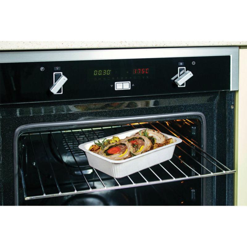 Contenitore in Polpa di Cellulosa Compac in forno tradizionale
