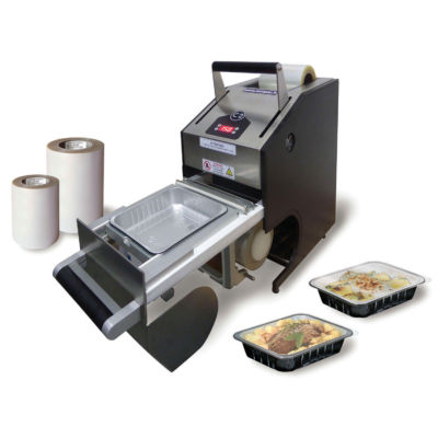 Heat Sealer Machine C2H Compac with aluminium smooth wall containers