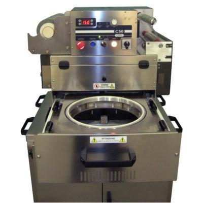 Heat Sealer Machine Compac C50PF for Pizza - drawer open