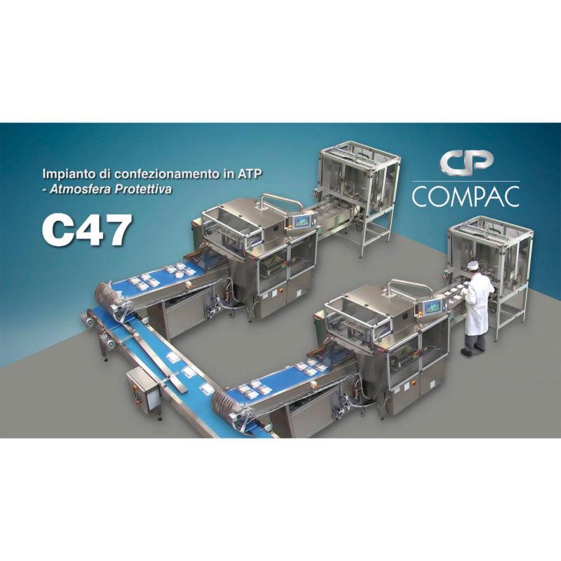 Macchine Termosaldatrici C47 in linea di confezionamento in atmosfera protettiva Compac