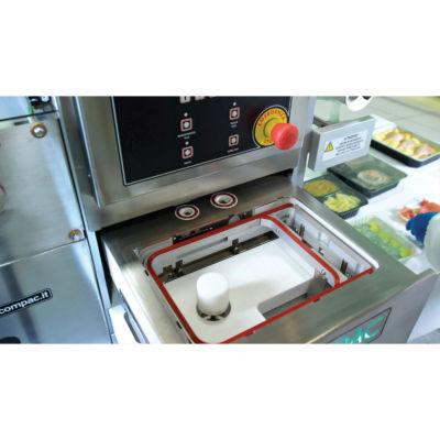 Sistema C26T Compac per il confezionamento alimentare in atmosfera protettiva (ATP) Serie L con il cassetto aperto
